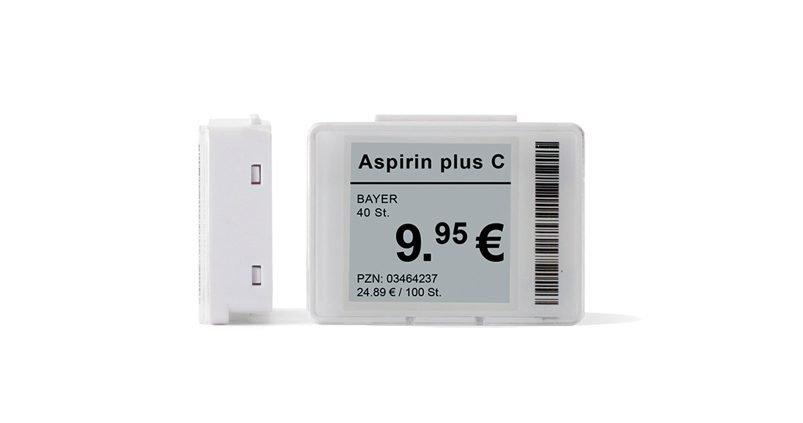 Kleine Elektronische Preisauzeichnung für Apotheken