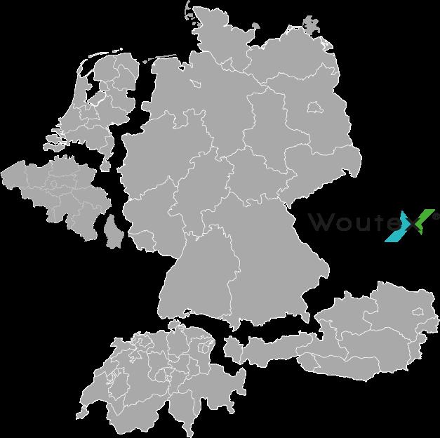 Karte mit Deutschland, Österreich, Schweiz, Niederlande, Belgien und Luxemburg