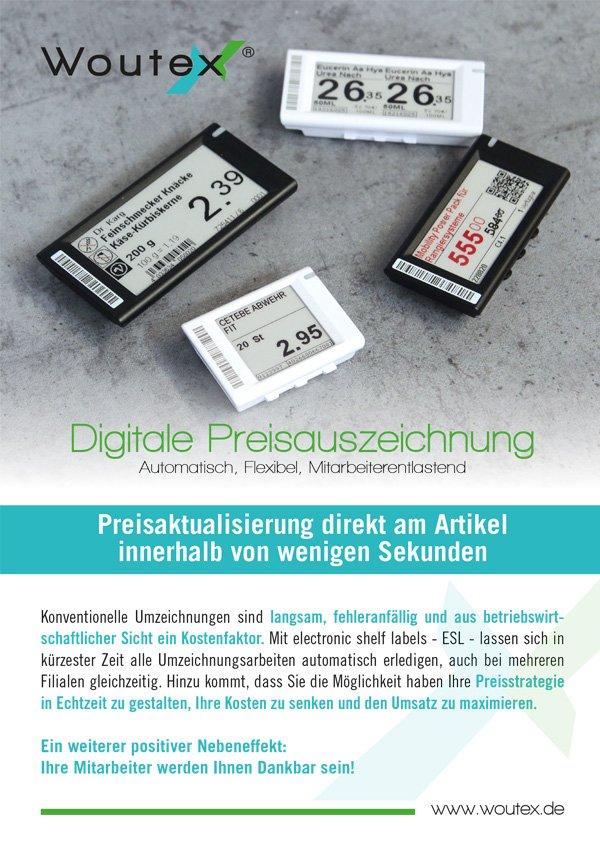 Flyer für Digitale Preisauzeichnungen für den Einzelhandel